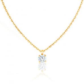 Collier Shine Or Jaune et Diamant 0,15 ct G/SI2