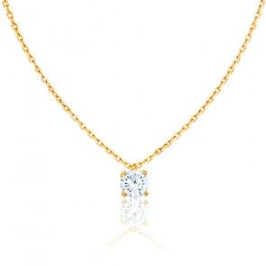 Collier Shine Or Jaune 18K et Diamant 0,20 ct