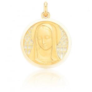 Médaille Vierge Santa Madona Ajourée Or Jaune 18K