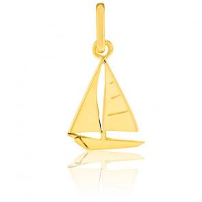 Pendentif voilier or jaune 9 ou 18 carats - Lucas Lucor