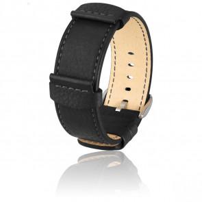 Bracelet Rebel Noir - Entrecorne 24 mm