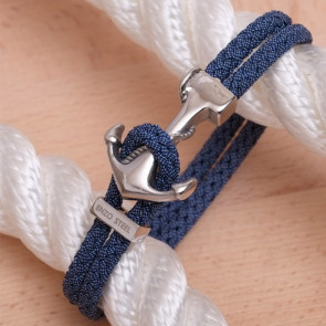 Bracelet Ancre Yacht Club Polie & Cordon Jean Bleu