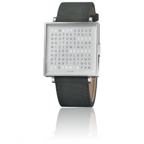 Montre Qloctwo W35 Fine Steel Leather Suede Anthracite