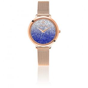 Montre 108G968 Cristaux Swarovski Dégradé Bleu