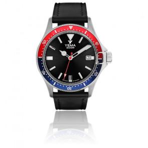 Montre Pro Diver Black Quartz Cuir YMHF1554-AA