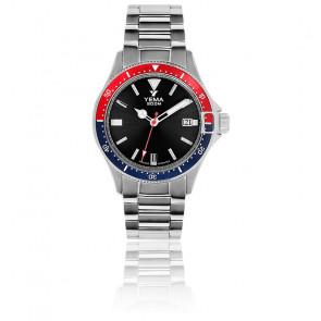 Montre Pro Diver Black Quartz Acier YMHF1554-AM