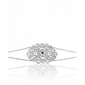 Bracelet Dentelle Argent & Diamants