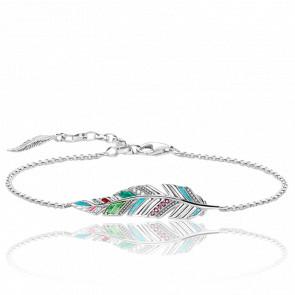 Bracelet Plume & Argent, A1749-340-7