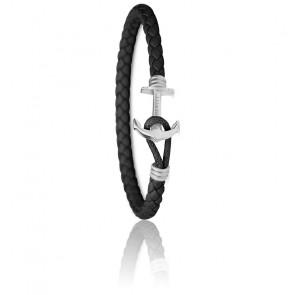 Bracelet Ancre PHREP Lite Acier Inoxydable Noir