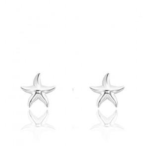 Clous d'Oreilles Etoile de Mer & Argent, H2001-001-21