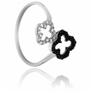 Bague Duo Floral Or et Diamants