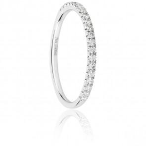 Alliance Half Eternity Diamant 0,23 ct & Or Blanc 18K