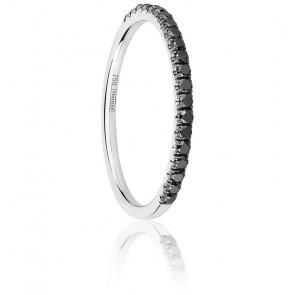 Alliance Half Eternity Diamant Noir 0,25 ct & Or Blanc 18K