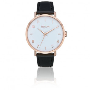 Montre Arrow Leather Rose Gold/White/Black A1091-3026