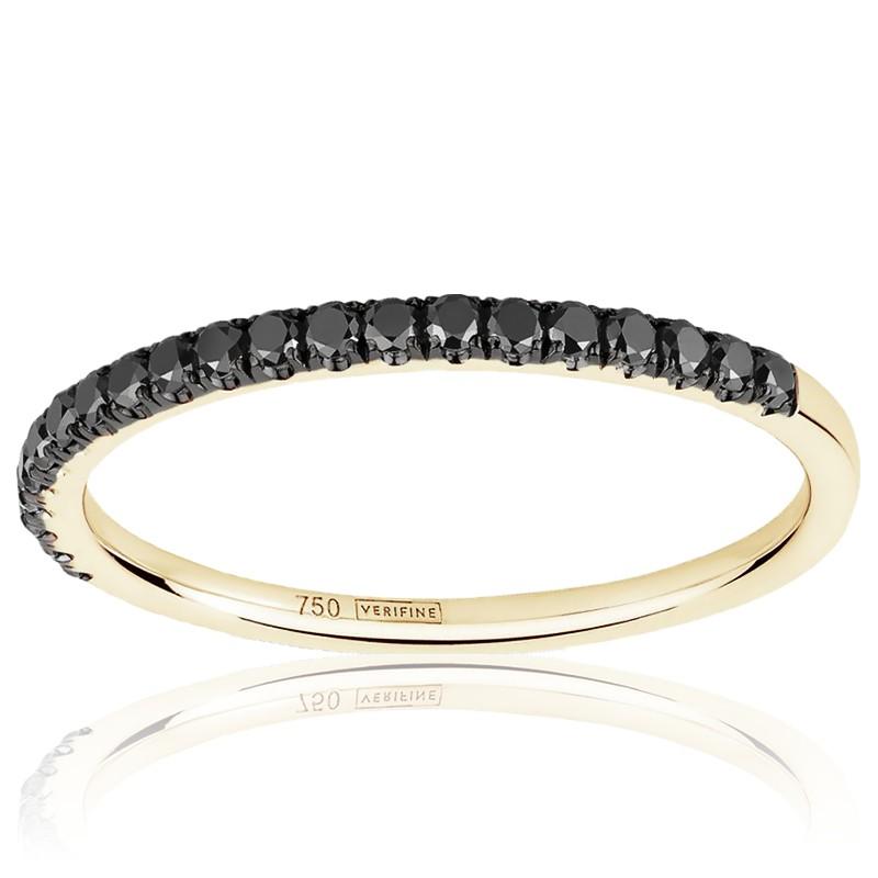 bague diamant noir or jaune
