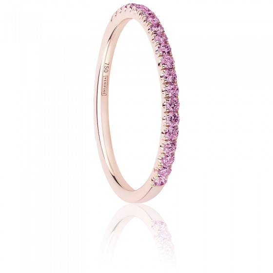 Alliance Half Eternity Saphir Rose 0,25 ct & Or Rose 18K