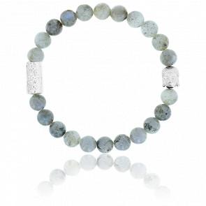 Bracelet Labradorite & Buddha Argenté