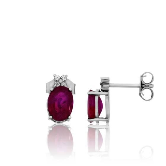boucles d 39 oreilles kerala or blanc rubis et diamants ocarat. Black Bedroom Furniture Sets. Home Design Ideas