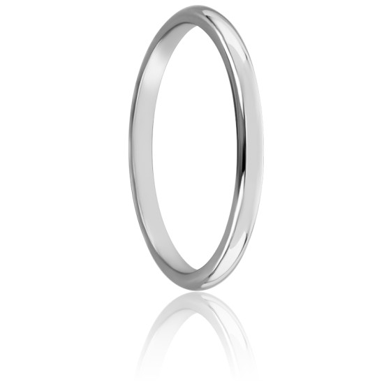 Alliance Demi Jonc 1,50 mm Or Blanc 18K