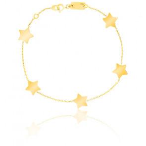 Bracelet 5 Etoiles Or Jaune 9K