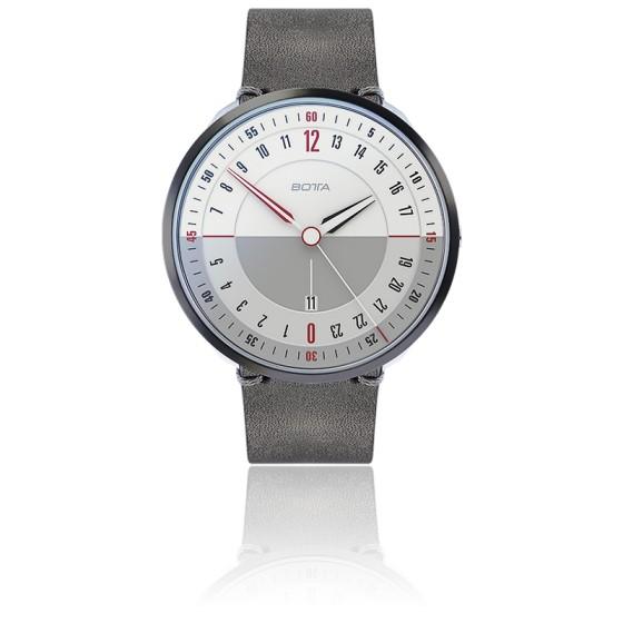Montre TRES24 Plus White Quartz Leather