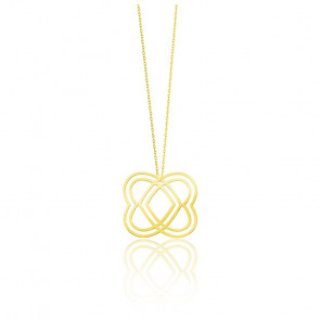 Collier Heart Medium Plaqué Or Jaune
