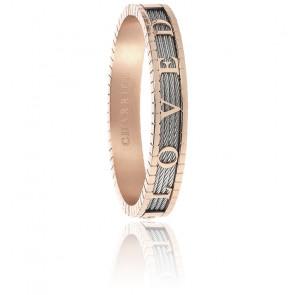 Bracelet Forever Loved Acier PVD Rose