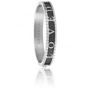 Bracelet Forever Loved Câble Noir & Acier