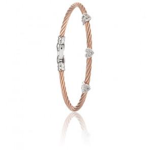 Bracelet Les Débutantes Topazes & Argent & Acier PVD Rose