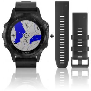 Montre Fēnix 5 Plus Black Sapphire 010-01988-07 Bracelet Cuir