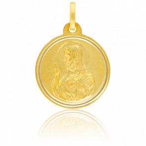 Médaille Bisel Christ de Profil Or Jaune 18K