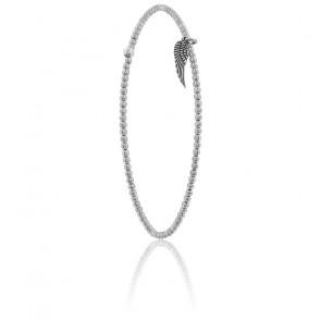 Bracelet Elastique Motif Aile Argent