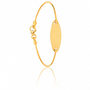 Bracelet Jonc Ovale Or Jaune