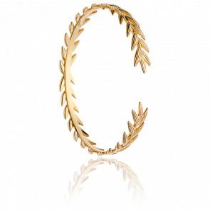Bracelet Jonc Epis de Blé Plaqué Or Jaune