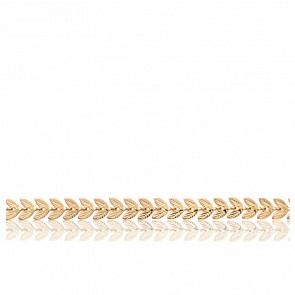 Bracelet Feuilles de Laurier Plaqué Or Jaune