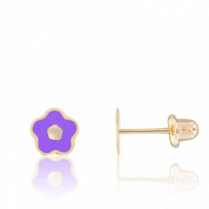 Boucles d'oreilles Fleurs Or Jaune 9K