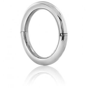 Bracelet Jonc Fil Rond 10 mm Argent