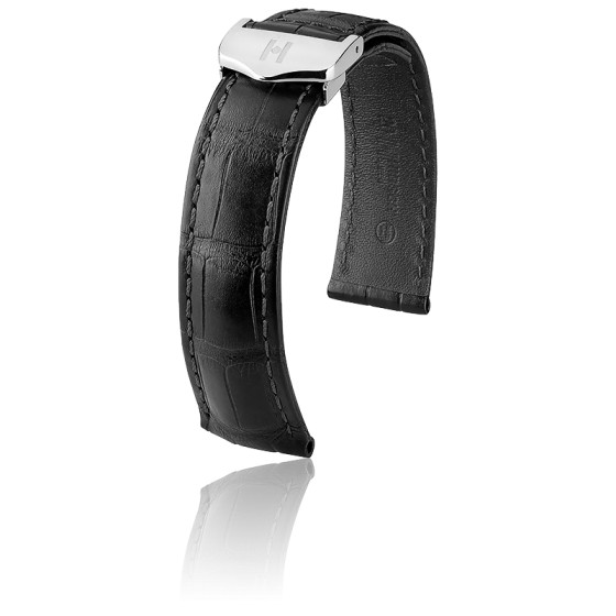 Speed Noir Bracelet 18mm Mat 21mm Hirsch Alligator Ocarat dtQrChxs