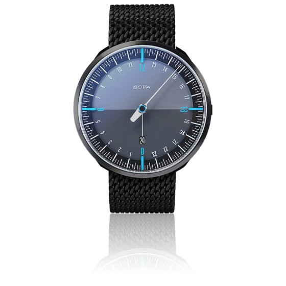 Montre UNO24 Plus Black Edition Blue Quartz Stainless Steel