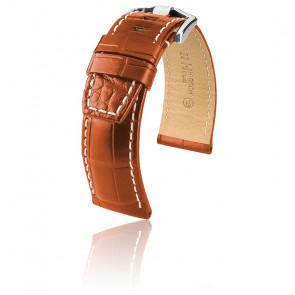 Bracelet Tritone Brun Or Mat / Blanc - Entrecorne 24 mm - Chute 22 mm