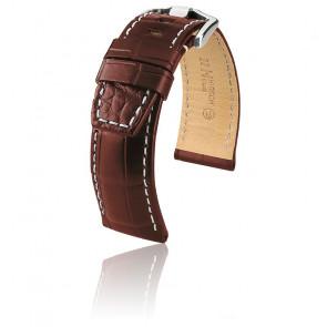 Bracelet Tritone Brun Mat / Blanc - Entrecorne 24 mm - Chute 22 mm
