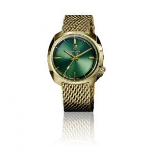 Montre AM1 Slim Electric Sweet Green Maille Milanaise Gold