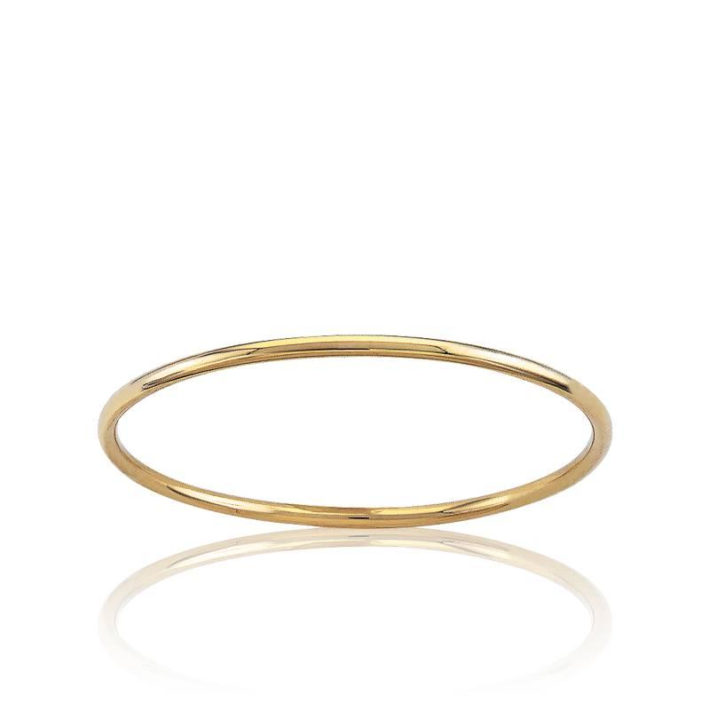 bracelet jonc oval or jaune ocarat. Black Bedroom Furniture Sets. Home Design Ideas