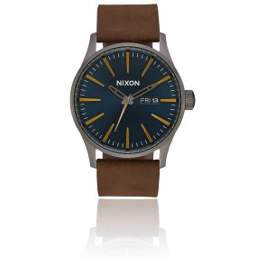 Montre Sentry Leather Gunmetal / Brown A105-2984-00