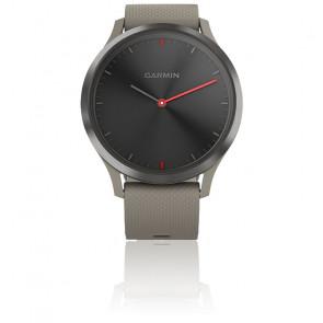 Montre Vivomove HR Sport Noire avec bracelet en silicone beige  010-01850-03