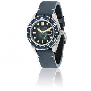 Montre Croft Cuir Bleu SP-5058-01