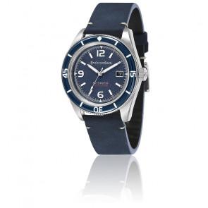 Montre Fleuss Cuir Bleu Cadran Bleu SP-5055-03