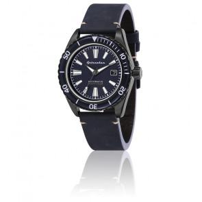 Montre Fleuss Cuir Bleu Cadran Bleu SP-5056-03