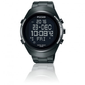 Montre chrono affichage digital titane PQ2057X1