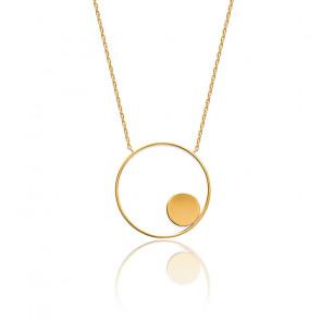 Collier Double Cercle Plaqué Or Jaune